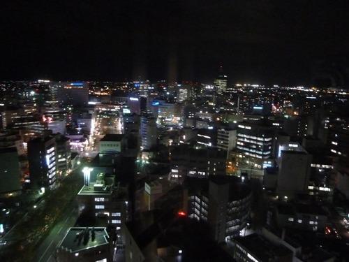 富山市役所屋上からの夜景